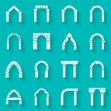 Flat silhouette icons collection of arch Royalty Free Stock Image