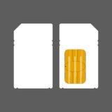 Flat sim card mock up Stock Image