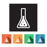 Flat simple icons (beaker, science, physics, chemistry),  Royalty Free Stock Image