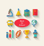 Flat Simple Icons of Elements and Objects Royalty Free Stock Photography