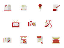 Flat simple icons for media publishing Royalty Free Stock Images
