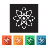 Flat simple icons (molecule, atom, physics, chemistry),  Stock Image