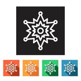 Flat simple icons (winter snowflakes),  Stock Image
