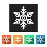 Flat simple icons (winter snowflakes),  Stock Photo