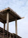 Flat slab roof under construction Royalty Free Stock Images