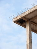 Flat slab roof under construction Royalty Free Stock Photo