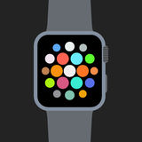 Flat smart watch Royalty Free Stock Images