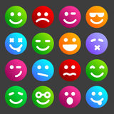 Flat smiley icons Stock Photography