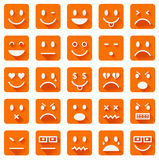Flat smiley icons Royalty Free Stock Photography
