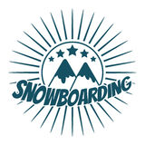 Flat snowboarding with mountains. Stock Images