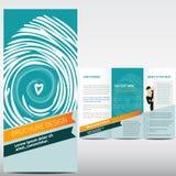 Flat social brochure Royalty Free Stock Images