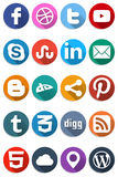 Flat Social Icons 1.0 Stock Photo