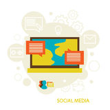 Flat social media vector illustration Royalty Free Stock Photos