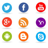 Flat social media vectors Stock Image