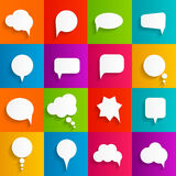 Flat Speech Bubbles with Long Shadows  Vector Stock Photos