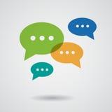 Flat speech bubbles set. Vector illustration Stock Photos