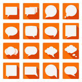 Flat speech bubbles Stock Images