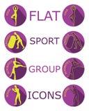 Vector Flat Sport Icons stock illustration