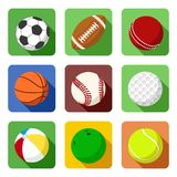 Flat sport icons Stock Photos