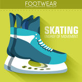 Flat sport skating background concept. Vector Stock Photography