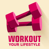 Flat sport workout icon background concept. Vector Stock Image