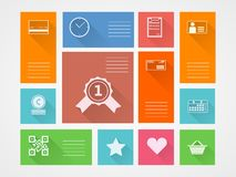 Flat square icons for internet purchase Royalty Free Stock Photo