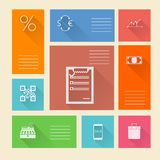Flat square icons for web payment Royalty Free Stock Photography