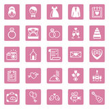 Flat square icons wedding Stock Photo