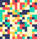 Flat squares seamless pattern. Tileble mosaic flat pattern in vibrant colors royalty free illustration