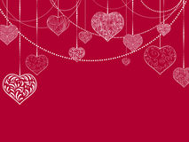 Flat St.valentine and Wedding Holiday Background Stock Image