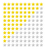 Flat star rating Royalty Free Stock Photo