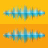 Flat stereo music wave icon Royalty Free Stock Image