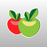 Flat sticker berry Stock Photography