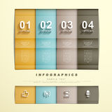 Flat style abstract banner infographics Royalty Free Stock Images