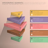 Flat style abstract banner infographics Stock Photo