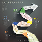 Flat style abstract flow chart infographics Royalty Free Stock Photos