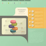 Flat style abstract pie chart infographics Stock Photos