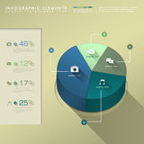 Flat style abstract pie chart infographics Royalty Free Stock Image