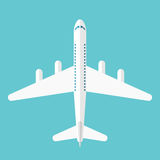 Flat style airliner isolated Royalty Free Stock Images