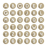 Flat Style Alphabet Icons Set. Vector Stock Photo