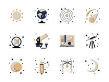 Free Flat Style Astronomy Icons Stock Images - 60367884