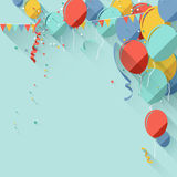 Flat style birthday background Royalty Free Stock Images