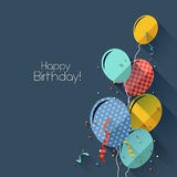 Flat style birthday background Royalty Free Stock Photo