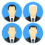 Flat style business men with four haircuts Stock Photo
