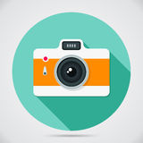 Flat style camera Royalty Free Stock Photo