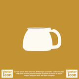 Flat style classic filter coffee icon Royalty Free Stock Images