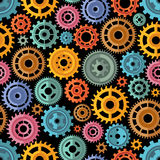 Flat Style Color Gears Pattern stock illustration