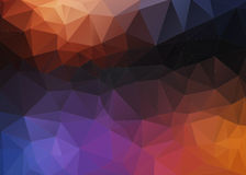 Flat Style colorful mosaic abstract 2D background Stock Photography