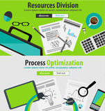 Flat Style Design Concepts for business analytics Stock Images
