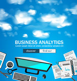 Flat Style Design Concepts for business analytics and winning strategy Royalty Free Stock Image